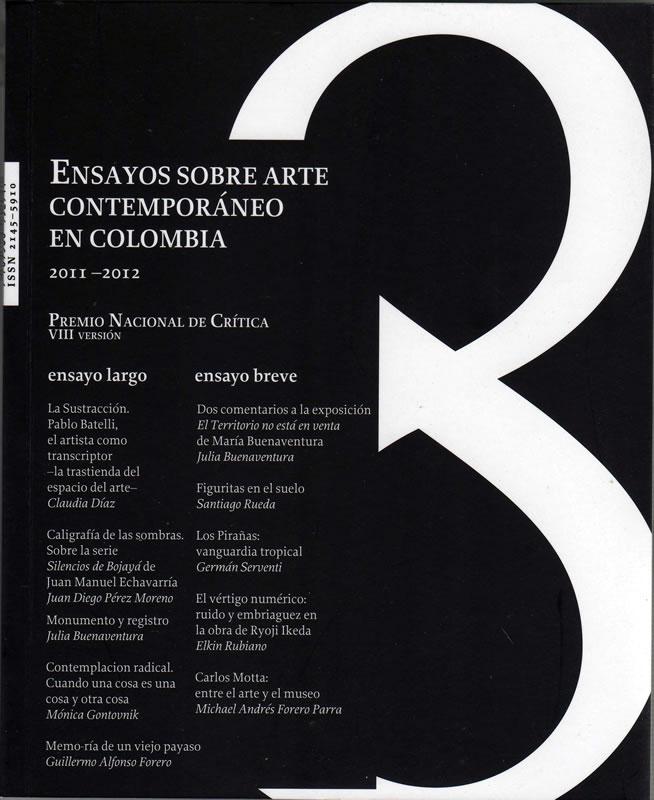 Ensayo sobre arte contemporáneo en Colombia