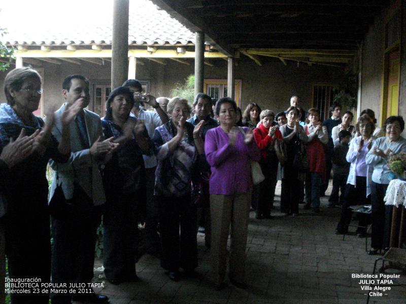 Inauguración de la Biblioteca Popular Julio Tapia